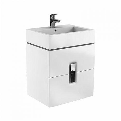 Шкафчик Kolo TWINS под умывальник 80 см с двумя ящиками, белый глянец