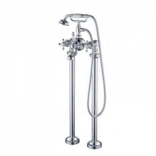 Напольный смеситель для отдельностоящей ванны Kraus Apollo KEF-16019 хром