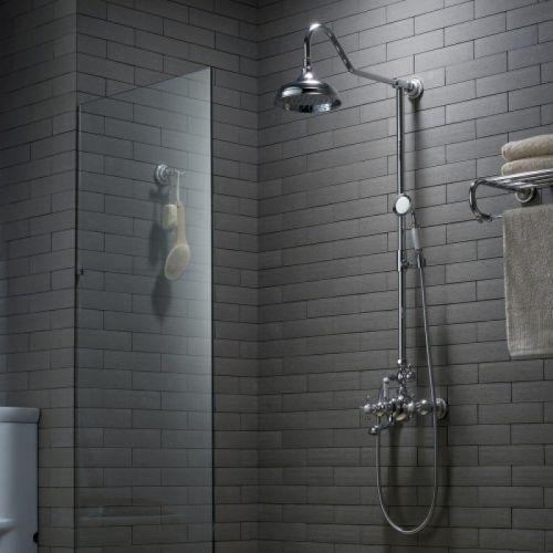 Душевая система для ванны с верхним душем Kraus Apollo KEF-16055 хром