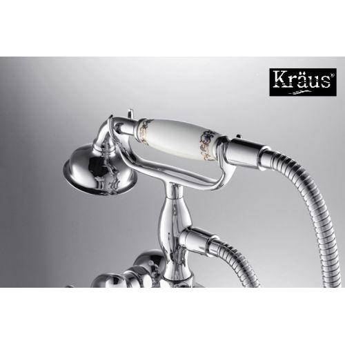 Смеситель для ванны с ручным душем Kraus Apollo KEF-16060 хром