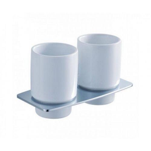 Стакан для зубных щеток двойной Kraus FORTIS KEA-13316 хром