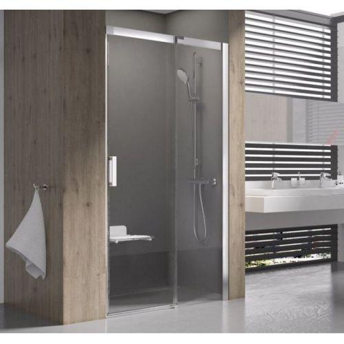 Душевые двери Ravak MSD2- 100 R Полированый алюминий TRANSPARENT