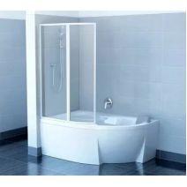 Штора для ванны Ravak VSK2 ROSA 170 L/R Белый TRANSPARENT