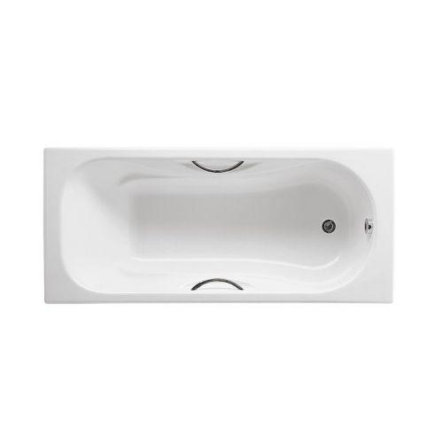 Ванна стальная Roca PRINCESS 160х75см прямоугольная, с ручками, без ножек