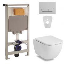 Комплект инсталляции: Volle ORLANDO Rimless Унитаз подвесной, сиденье+Комплект инсталляции Volle Master 4в1(хром)