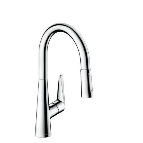 Смеситель для кухни Hansgrohe Talis S 160 , однорычажный, с выдвижным душем, хром