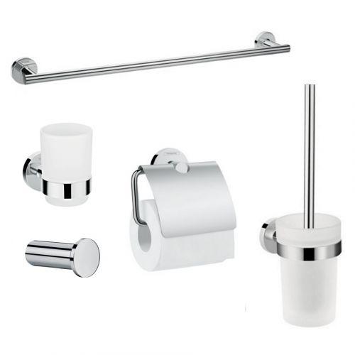 Набор аксессуаров Hansgrohe Logis: крючок, полотенцесушитель, держатель туалетной бумаги, стакан, туалетная щётка