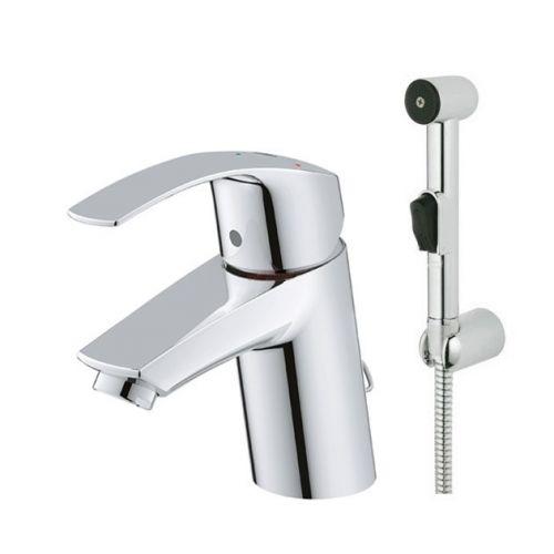 Смеситель для раковины Grohe Eurosmart DN 15 S-Size,с гигиеническим душем