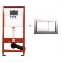 Инсталляция для консольного унитаза Tece Base Kit с креплением и хромированной кнопкой