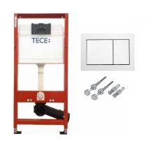 Инсталляция для консольного унитаза Tece base с креплением и белой кнопкой
