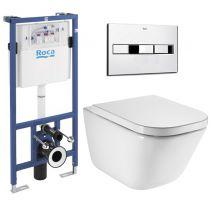 Комплект: GAP Rimless унитаз подвесной, PRO инсталяция для унитаза, кнопка, сиденье твердое slow-closing