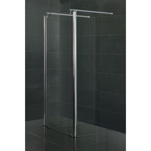Стенка c подвижным профилем VOLLE 350*1900 мм, каленое прозрачное стекло 8мм