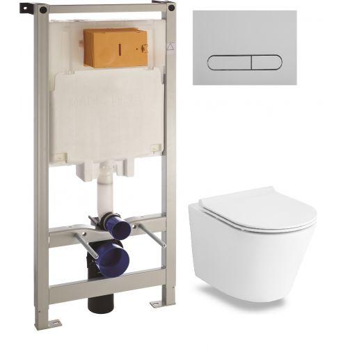 Комплект: Volle NEMO Rimless унитаз подвесной, сиденье Slim+Комплект инсталляции Volle Master 3в1