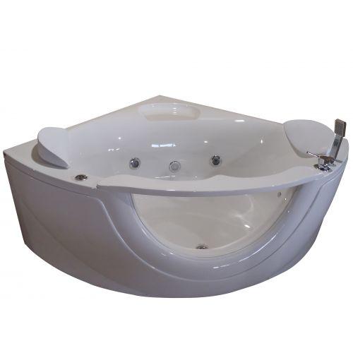 Ванна угловая гидро-аэромассажная VOLLE 1500*1500*630 мм, акриловая