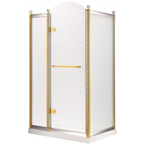 Душевая кабина VOLLE GRAND TENERIFE с распашной дверью, в золоте/серебре, без поддона 1200*800*2000мм, левая