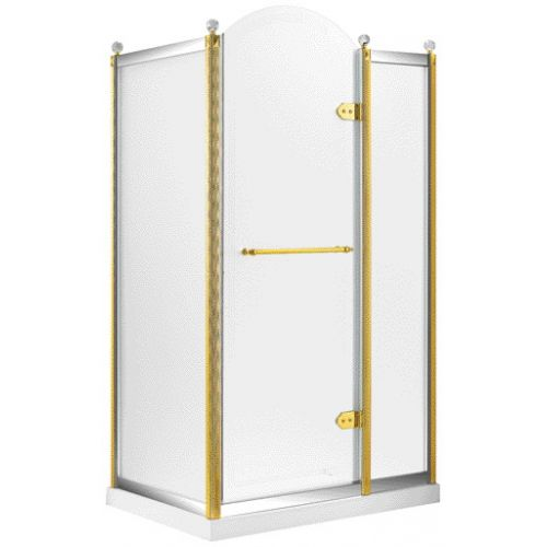 Душевая кабина VOLLE GRAND TENERIFE с распашной дверью, в золоте/серебре, без поддона 1200*800*2000мм, правая