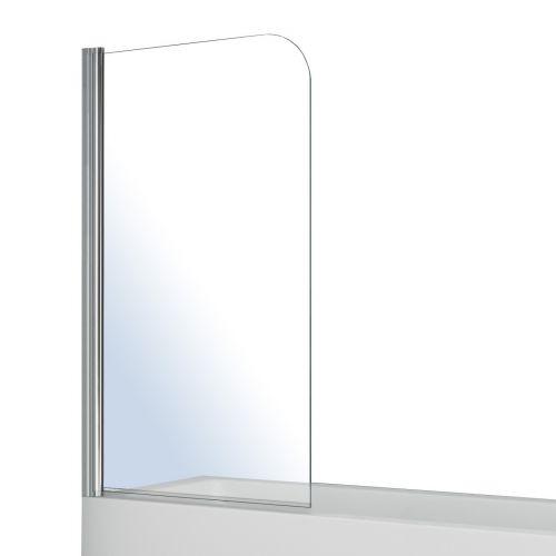 Штора на ванну односекционная 1400*800мм, поворот на 180°, прозрачное стекло 5мм