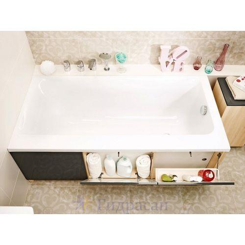 Ванна акриловая прямоугольная Cersanit Smart 170х80 правая с ножками
