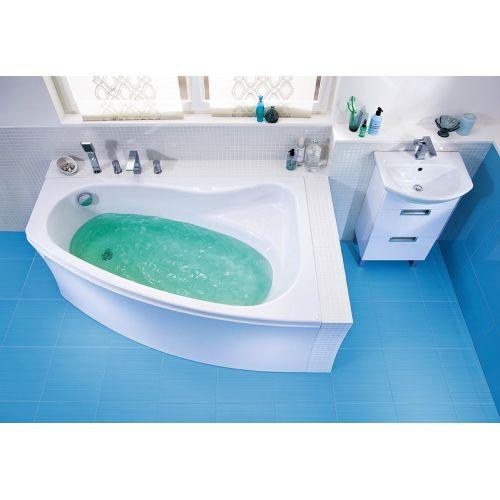 Ванна акриловая асимметричная Cersanit Sicilia NEW 140х100 см. левая/правая с ножками