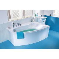 Ванна акриловая асимметричная Cersanit Sicilia New 150x100 см. левая/правая с ножками