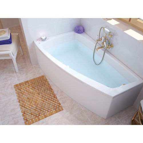 Ванна акриловая асимметричная Cersanit Lorena 150х90 левая/правая с ножками