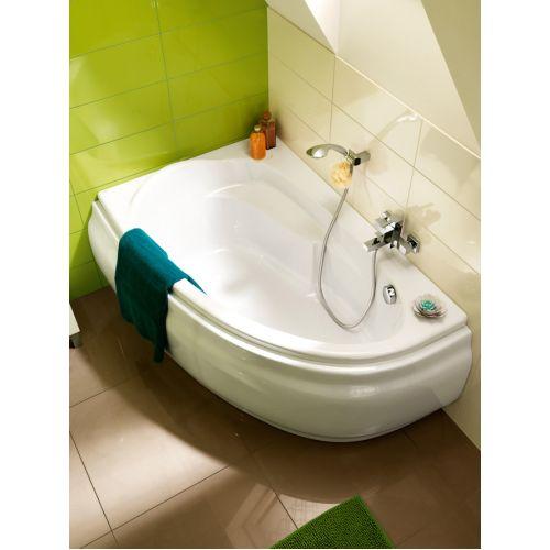 Ванна акриловая асимметричная Cersanit Joanna New 140x90 см. левая/правая с ножками