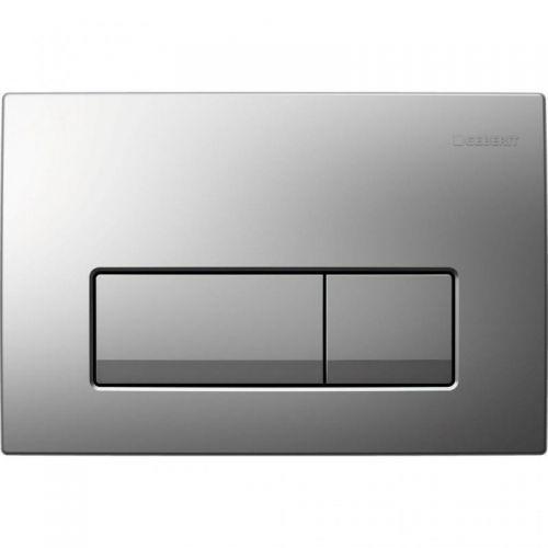 Delta 51 Смывная клавиша, двойной смыв, пластик, хром глянец