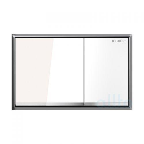 Sigma30 Смывная клавиша, двойной смыв, белый/хром глянцевый/белый