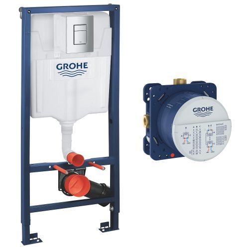 Инсталляция для унитаза Grohe Rapid SL 4в1 +SmartBox Скрытая часть смесителя