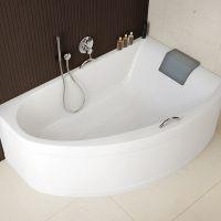 KOLO MIRRA ванна асимметричная 170*110 см, правая, с ножками, элементами крепления и подголовником