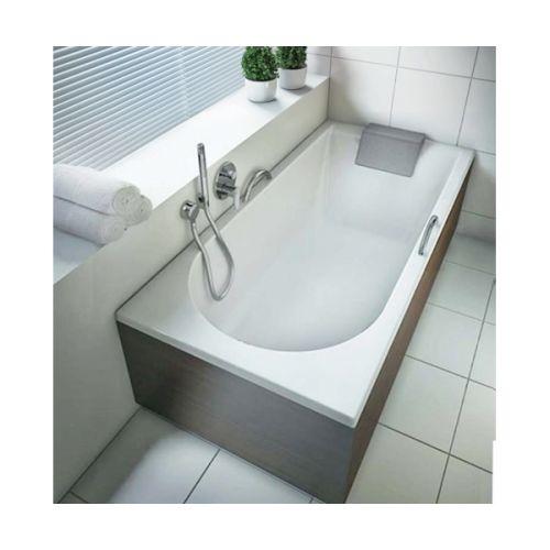 KOLO MIRRA ванна прямоугольная 160*75 см, с ножками, элементами крепления и подголовником