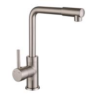 Смеситель для кухни Imprese LOTTA , высокий нос, сатин, 35 мм (55400)