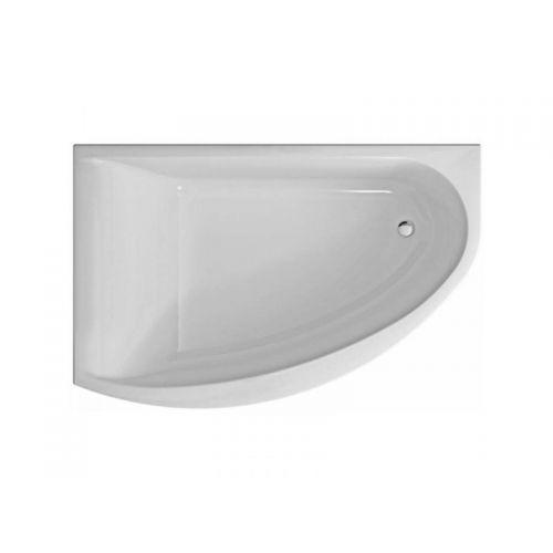 KOLO MIRRA ванна асимметричная 170*110 см, левая, с ножками и элементами крепления, белая