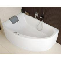 KOLO MIRRA ванна асимметричная 170*110 см, левая, с ножками, элементами крепления и подголовником