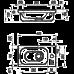 Умывальник CHROME MINI R Белый с отверстиями Ravak