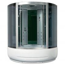 Гидробокс Miracle с электроникой, 150 х 150 см, профиль сатин, стекло серое