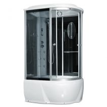 Гидробокс Miracle с электроникой левый/правый 120х85 см, профиль сатин, стекло серое