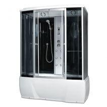 Гидробокс Miracle с электроникой 170 х 85 см, профиль сатин, стекло серое