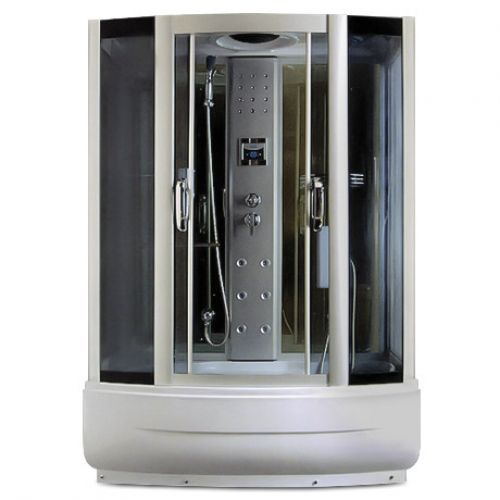 Гидробокс Miracle с электроникой, 170 х 85 см, профиль сатин, стекло серое, поддон с гидромассажем