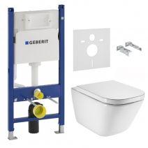 Комплект инсталляции и унитаза: GAP Rimless с сиденьем slow-closing, Geberit Duofix без кнопки